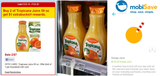 Tropicana Orange Juice $1.88 Each!