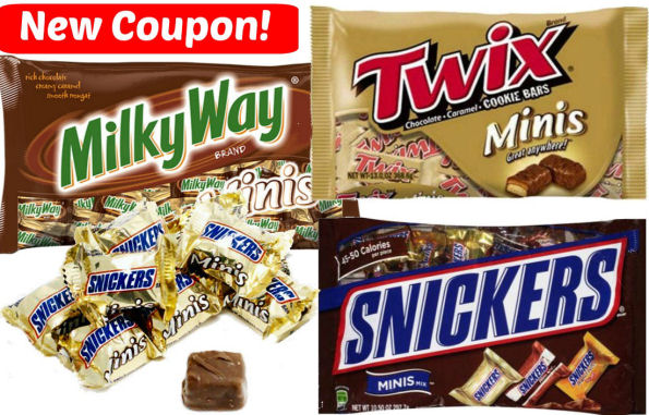 New Snickers Twix & Milky Way Minis Coupon!