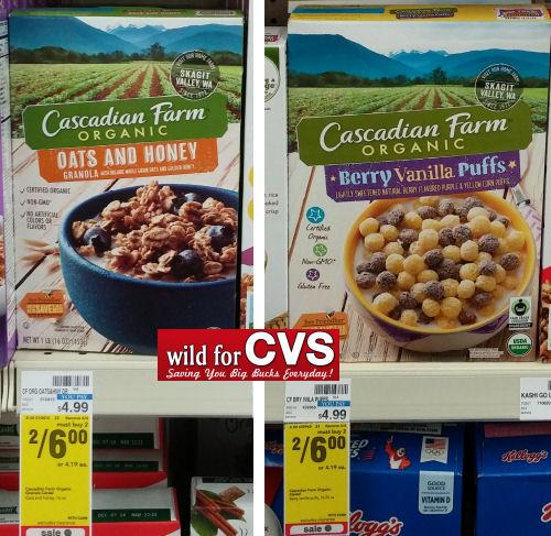 Cascadian Farms Cereals $2 Each (Reg. $4.99