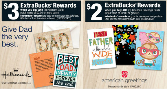Free Hallmark Cards or 66¢ American Greetings Cards!