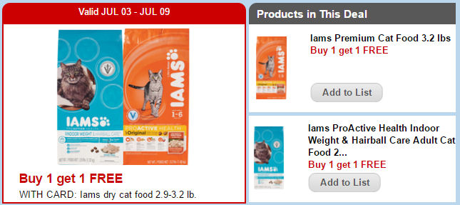 Iams Cat Food Coupons Canada