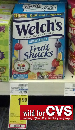 Welch's Fruit Snacks $1.49 Per Box
