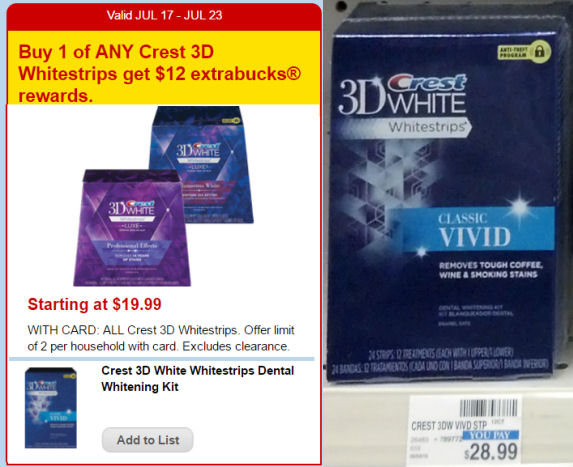Crest whitestrips deals