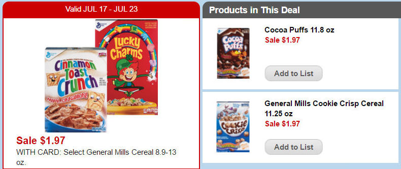 Print Now for Cookie $1.22 Cookie Crisp or Cocoa Puffs