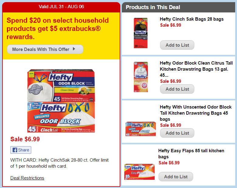 hefty bags deal