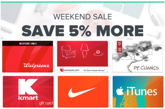 Up To 30% Off Gift Cards At Top Stores