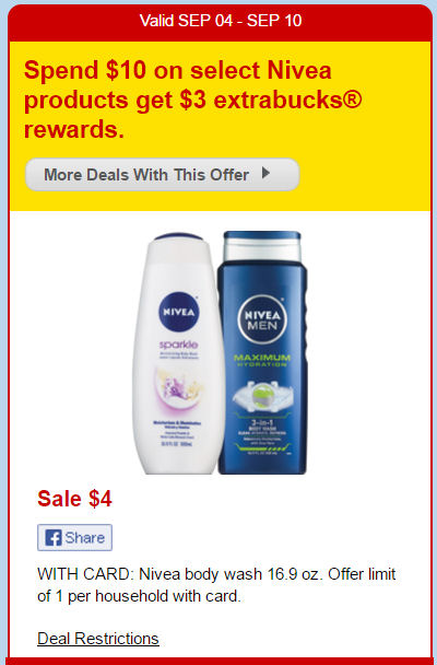 nivea body wash