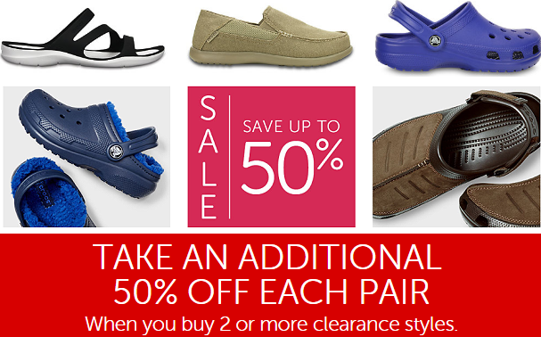 9454e9b08 Crocs Clearance Sale  Extra 50% Off