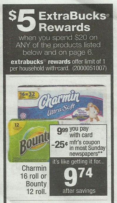 bounty & charmin deal
