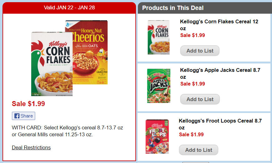 kellogg's deal