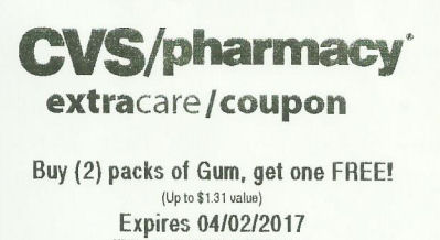 Gum coupon