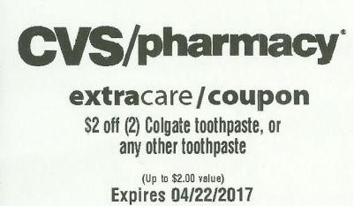 cvs toothpaste coupon