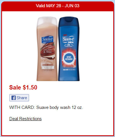 Suave body wash deal