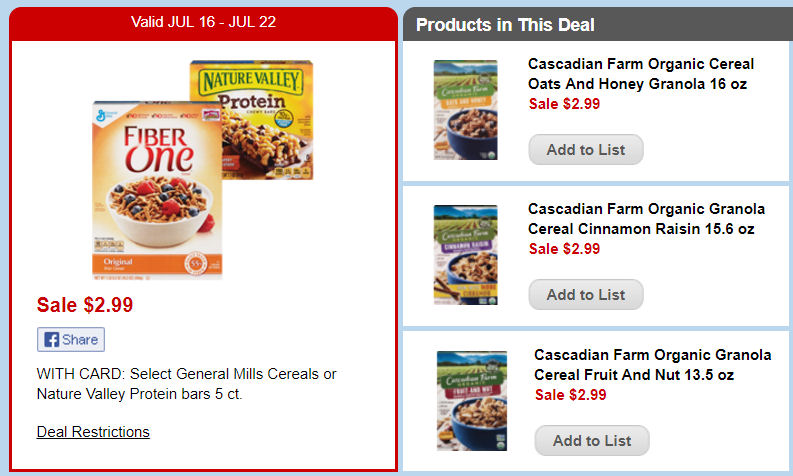 cascadian cereals