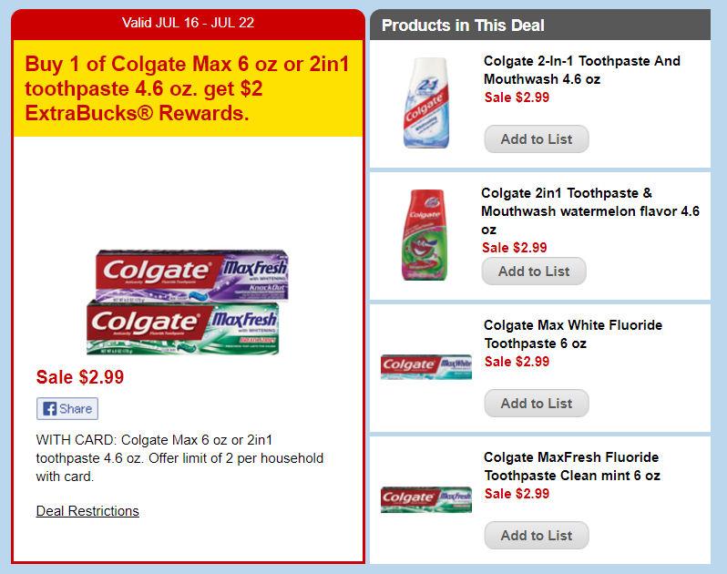 colgate ecb deals