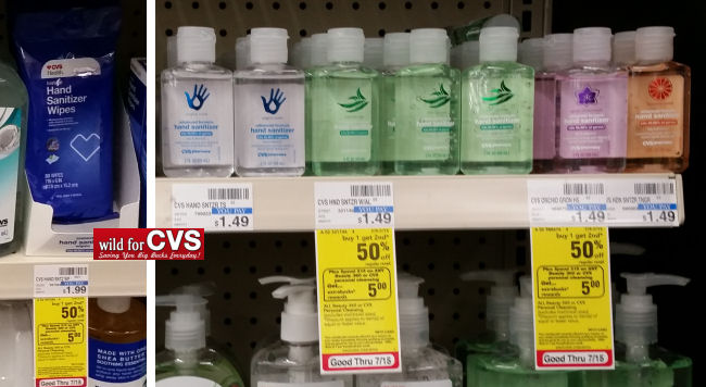 cvs purell hand sanitizers deal