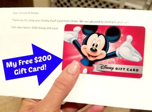 Earn a $200 Disney Gift Card with Disney Visa