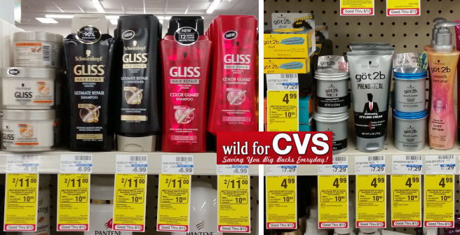 Schwarzkopf gliss and got2b deal