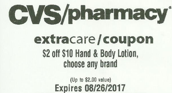 cvs coupon for lotion