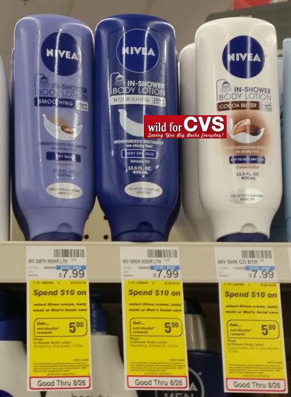 nivea lin shower lotions