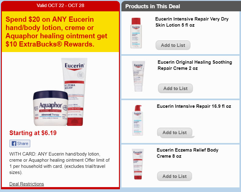 eucerin deal
