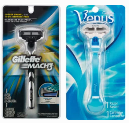 gillette and venus razors