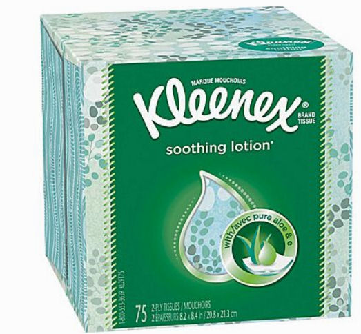 kleenex soothing lotion deal
