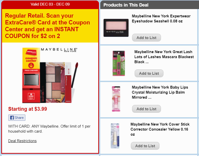 maybelline deal
