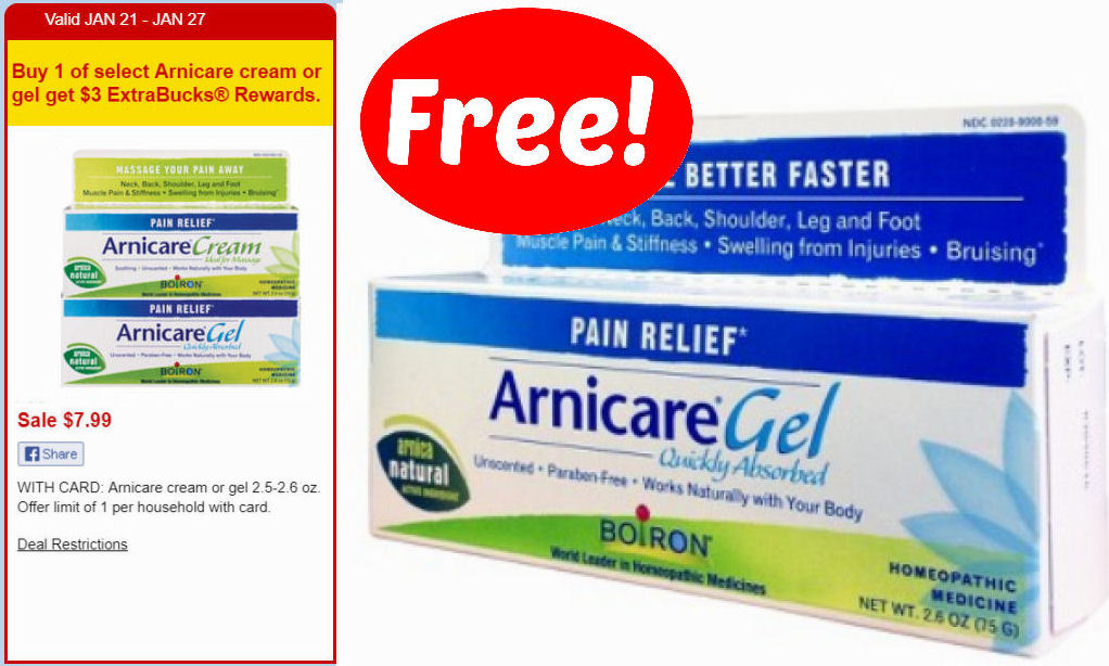 free  arnicare gel next week