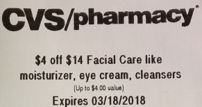 facial care cvs coupon