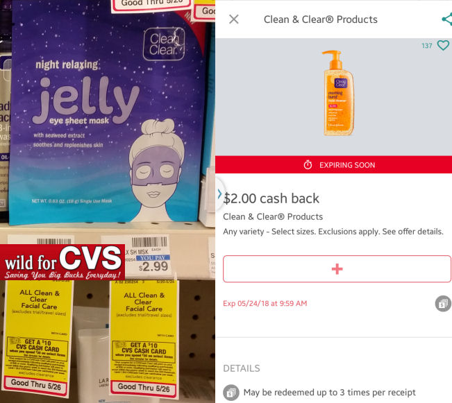 clean & clear mask deal