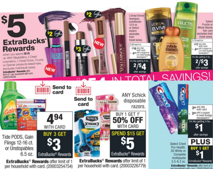 674bc290eee Here are the match ups for the CVS Weekly Ad starting Sunday, 8/5. The  Extra Bucks are on top. To see the rest of the CVS weekly ad deals and  coupons, just ...