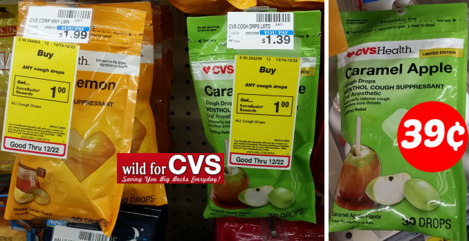 CVS Health Cough Drops As Low As 39¢ – No Coupons Needed!