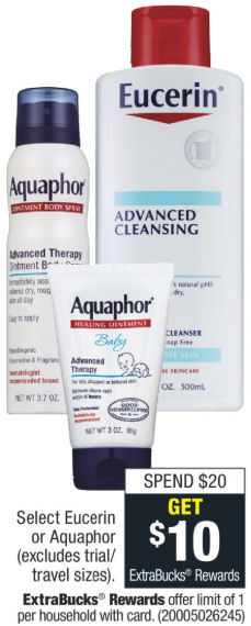 eucerin and aquaphor