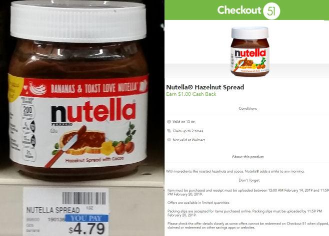 nutella deals